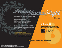 Pecha Kucha Boston 6 poster